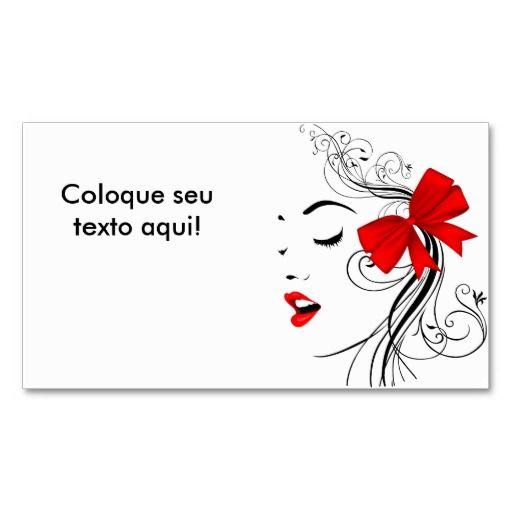 Cartão de visita para beleza e estética. Disponível em 11 tipos de papéis diferentes para escolher.