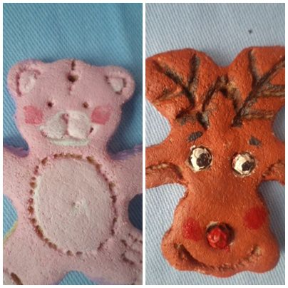when you turn a bear modle upside down,you get raindeer.... isn t this clever idea.