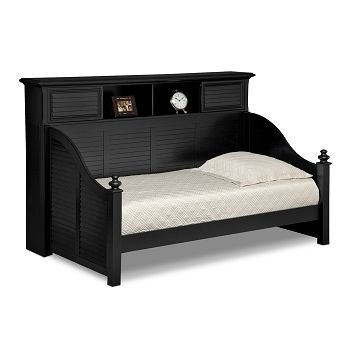 Mayflower II Black Kids Furniture Bookcase Daybed | Furniture.com $999.99
