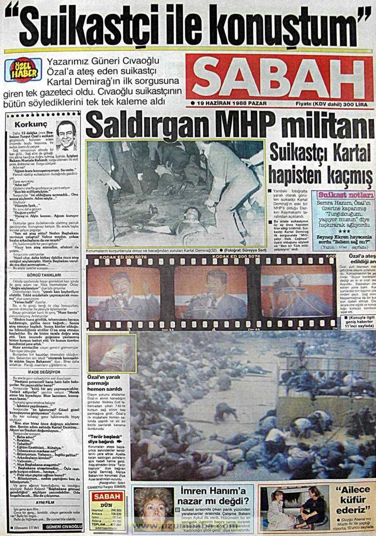 Sabah gazetesi 19 haziran 1988