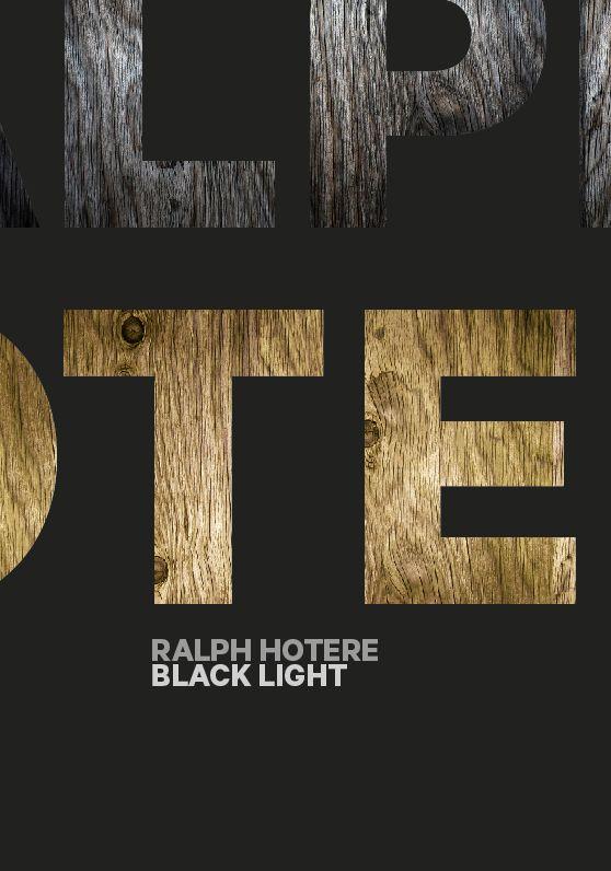 Black Light - Ralph Hotere on Behance