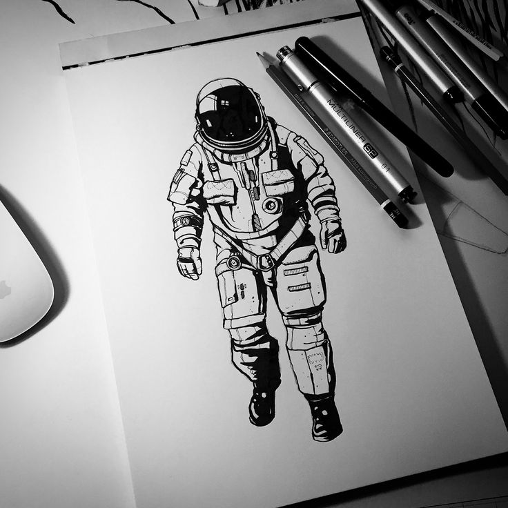 detailed drawings of astronauts - photo #17