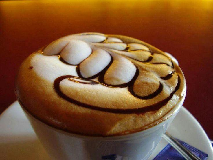 beautiful cappuccino art