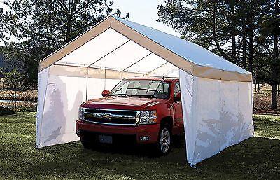 True Shelter 12' X 20' Car Canopy Gazebo Tent Cover 8 legs steel Frame Garage