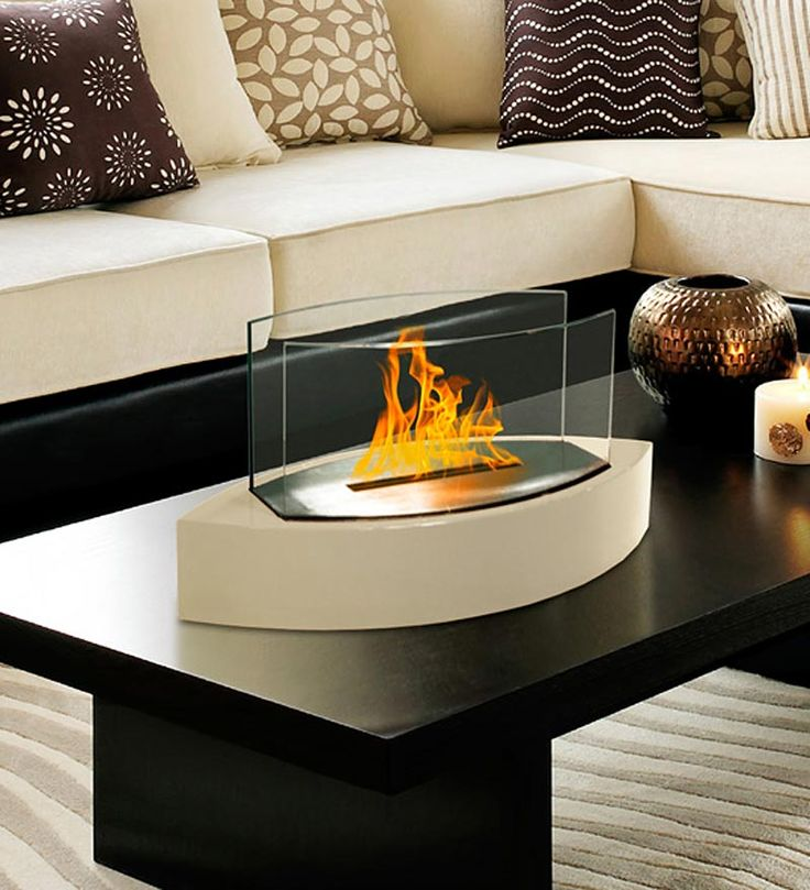 Ethanol Fueled Lexington Contemporary Tabletop Fireplace   How Cool Is This?