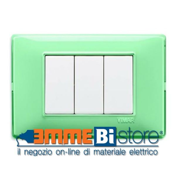 Placca 3 moduli Reflex menta Vimar Plana #vimar #seriecivile #plana #prezzoplacce #arredare #arredamento #design #illuminazione #interni #emmebistore
