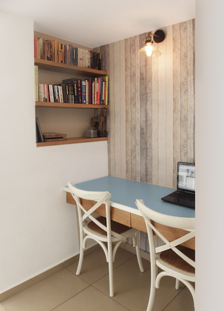 working space with rusted wood wallpaper