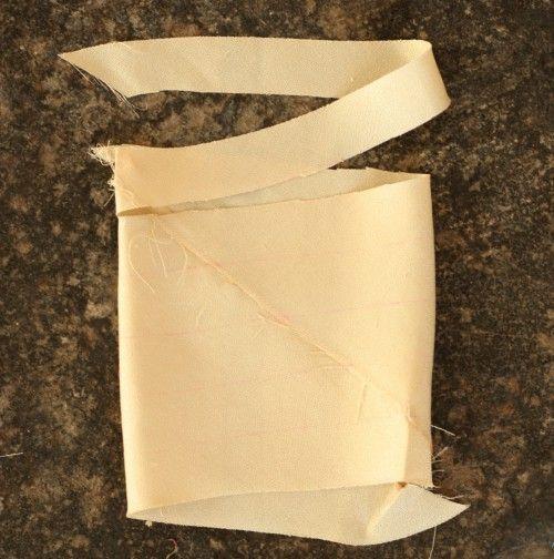 tuto poyur réaliser son biais à partir de chutes de tissu