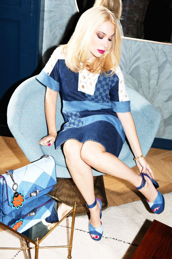 Camille Seydoux and Roger Vivier created denim accessories for Spring.