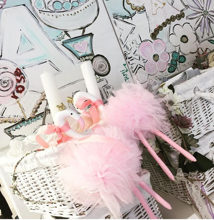 baby pink tulle flamingo easter candles by cotton prince!