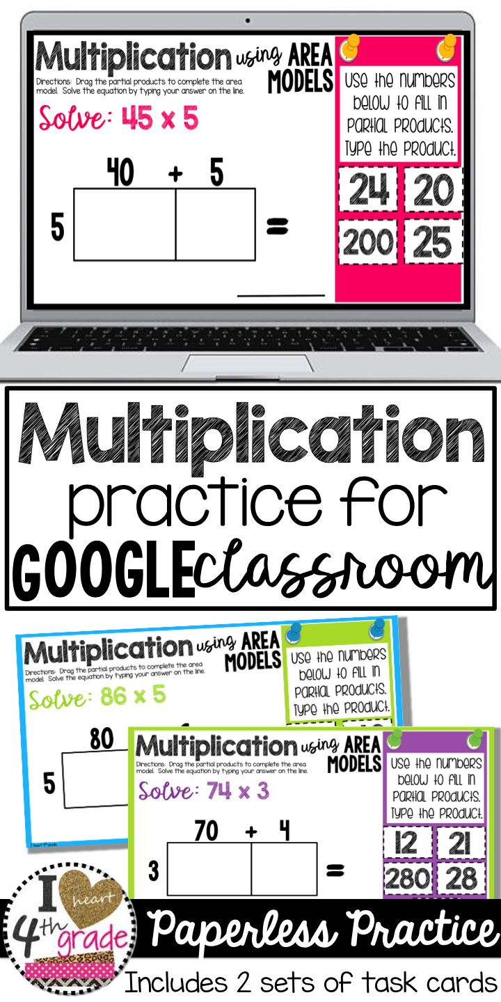 Best 25 4th grade multiplication ideas on pinterest math google classroom multiplication using area models gamestrikefo Choice Image