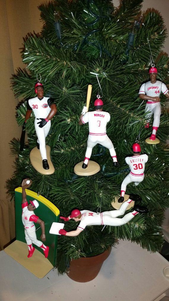 Johnny Bench or Joe Morgan Or Kal Daniels or Pete Rose or Eric Davis or Deion Sanders or Sean Casey Cincinnati Reds christmas ornament