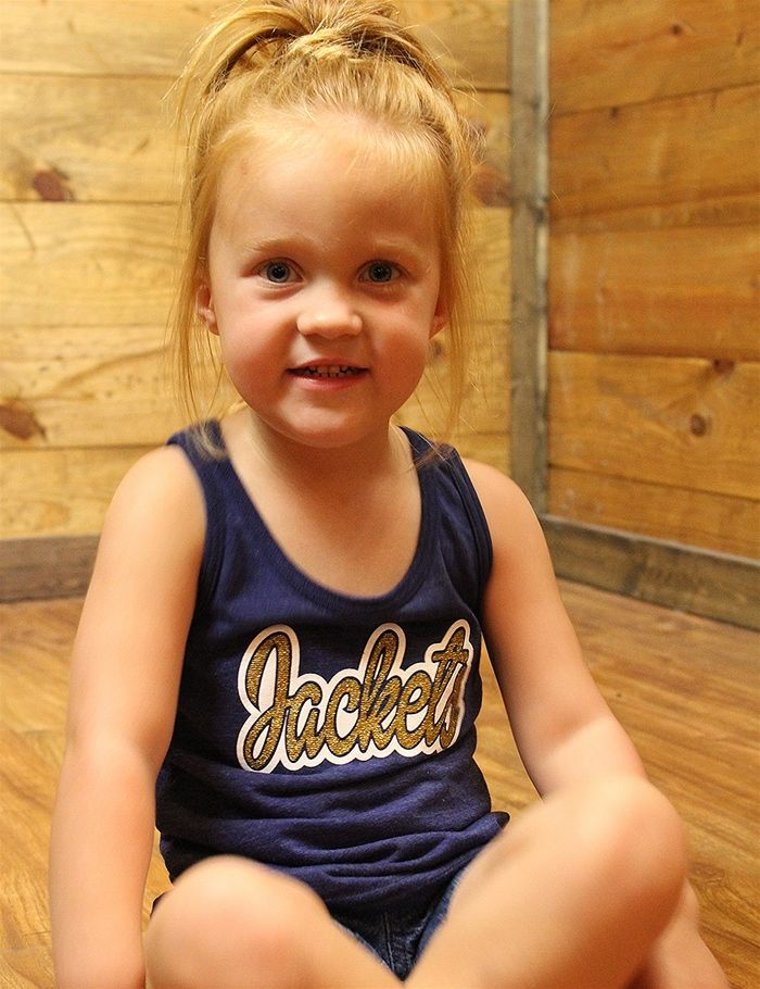 Your little Jackets fan will sparkle in this tank GO STEPHENVILLE