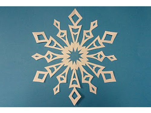 Holiday Craft Ideas - Cute Winter DIY Projects - http://bontempsbeignet.blogspot.com/2010/12/just-one-teeny-little-issue.html: Snowflake Template, Christmas Snowflakes Paper, 6 Pointed Snowflakes, Diy Snowflakes, 6 Sided Snowflakes, Paper Snowflakes, Diy Paper Crafts, Holiday Crafts, Classroom Crafts