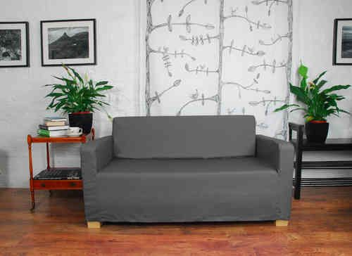 Polyester Solsta Sofa Bed Cover - Charcoal