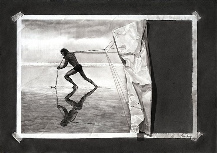 Jono Dry y sus increíbles dibujos surrealistas e hiperrealistas hechos a lápiz