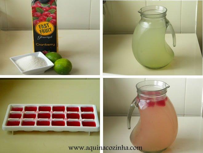 Aprenda a fazer essa clássica bebida muito usada nos Estados Unidos, a Pink Lemonade que é suco de limão com suco de cranberry.