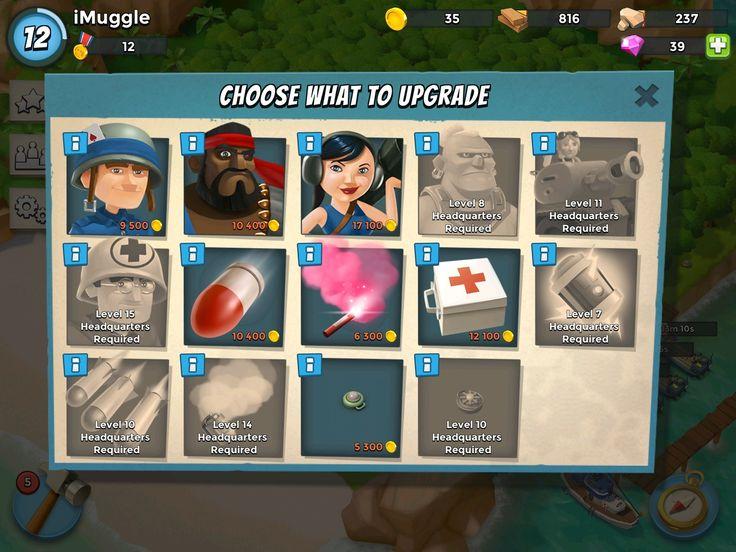 Boom Beach - Upgrade UI