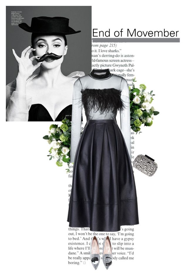 """""""welcome december"""" by helena99 ❤ liked on Polyvore featuring LSA International, Dondup, TIBI, Lipsy, Sequins, feathers, leatherskirts and helenabonhamcarter"""