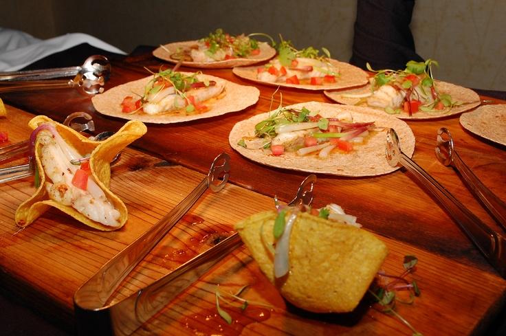 Deerhurst's DH Shiitake Dusted Pickerel Tacos