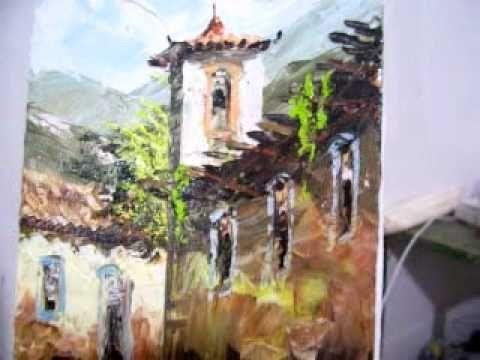 Video aula curso Pintura em tela com espatula part 2 - YouTube