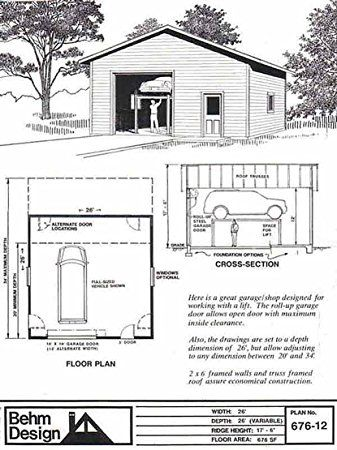 28 best 3 car garage plans images on pinterest 3 car for 2 bay garage plans