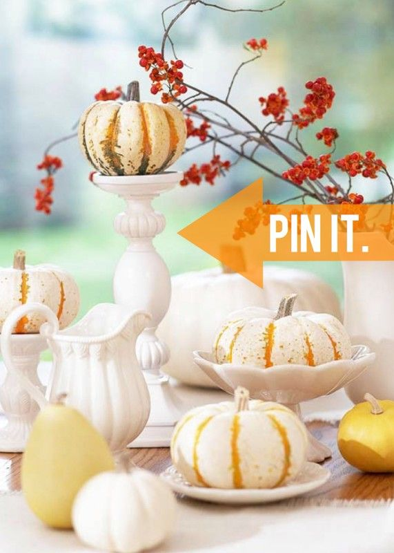 Pumpkins and gourd stacked on white dishesDecor Ideas, Fall Decor, Autumn, Dinner Parties, Thanksgiving Centerpieces, Fall Tables, White Dishes, White Pumpkins, Thanksgiving Tables