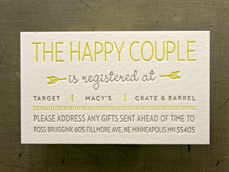 When Do You Send Invitations For Wedding: Registry Cards For Wedding: Etiquettes To Follow