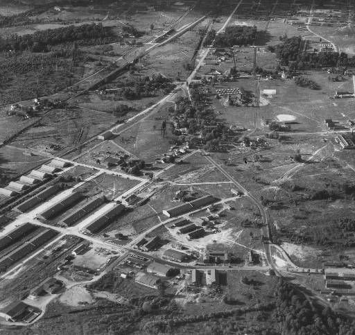 Fort Knox military base, Fort Knox, Kentucky, 1935. Aerial ...