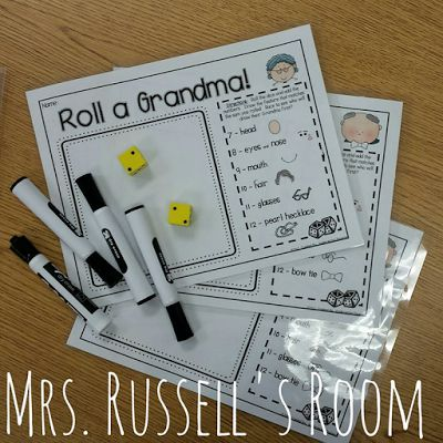 Play this fun 'Roll A Grandparent' game on Grandparent's Day in YOUR classroom! :) #grandparentsday