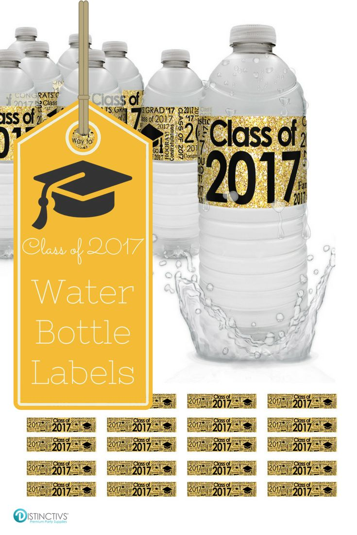 Bring that extra special touch to your black and gold graduation party decorations and drink station