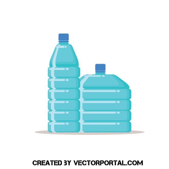 Empty Plastic Bottles Vector Image Empty Plastic Bottles Plastic Bottles Bottle