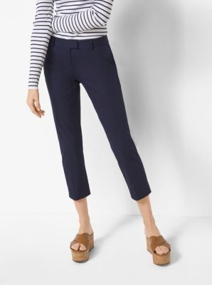 Slim-Fit Stretch-Twill Cropped Trousers