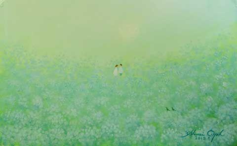 葉祥明 紫陽花の原の恋人たち