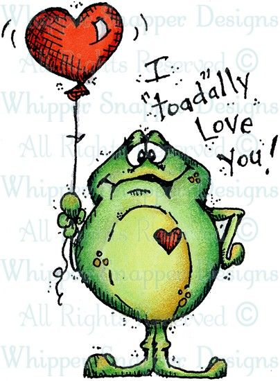 "I ""Toad""ally Love You - Frogs - Animals - Rubber Stamps - Shop"
