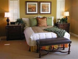 9 tips for a healthier bedroom: Lights Fixtures, Single Lights Minis Pend, Wall Color, Healthier Bedrooms, Lights 7028500, Pendants Lights, Bronze Finish, Bedrooms Ideas, 7028500 Single Lights