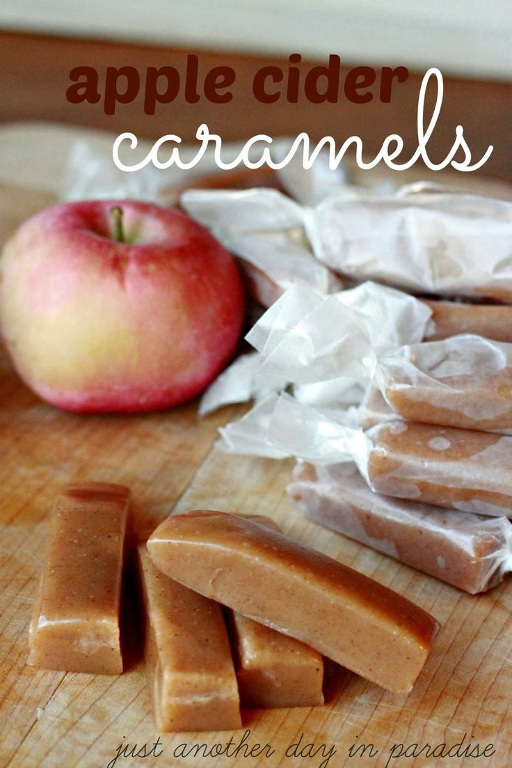 Larissa Another Day: Apple Week: Apple Cider Caramels