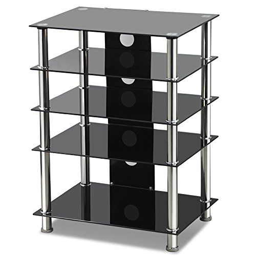 Popoamazing Living 5-Tier Black Tempered Glass and Chrome TV Table Stand Shelving for DVD Player, Video Recorder, Satellite Receiver, or Home Cinema Equipment with Stainless Steel Legs Popamazing http://www.amazon.co.uk/dp/B00N8O4QJ6/ref=cm_sw_r_pi_dp_mExjvb08V7EVA
