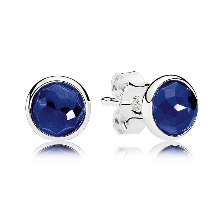 Beautiful and very affordable PANDORA SEPTEMBER BIRTHSTONE SAPPHIRE DROPLET EARRINGS. Lovingly found by www.foryourbuysonly.com