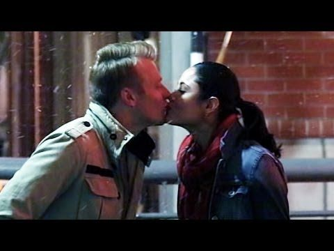 ..Snowing Mistletoe Kissing Prank..