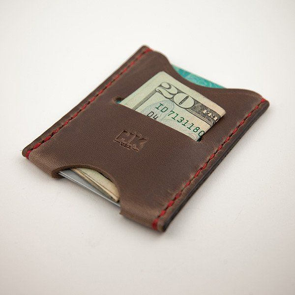 Slim Card Wallet, Brown Chromexcel