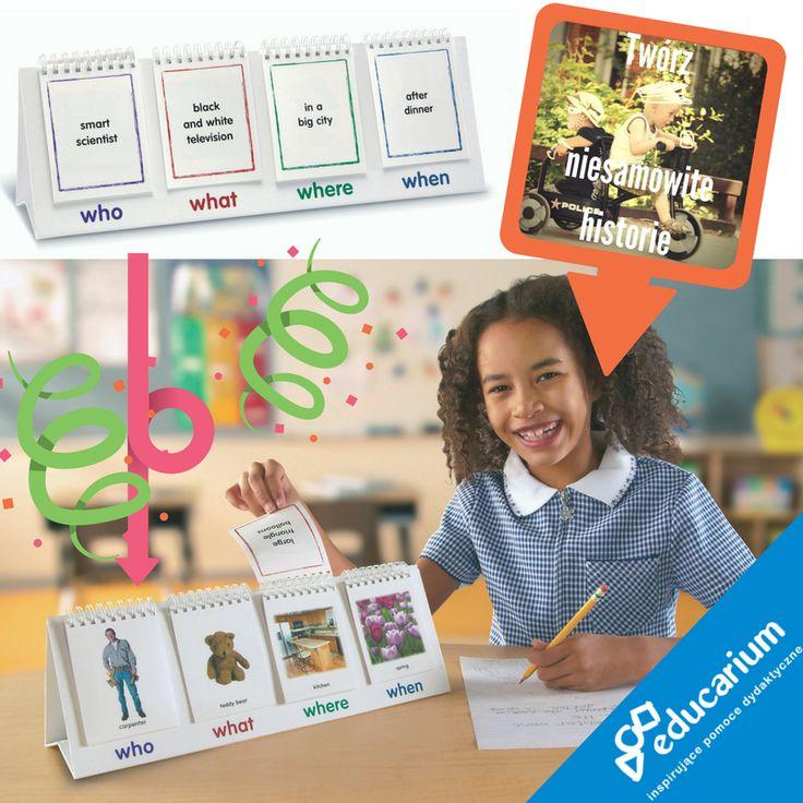 Kreatywność po angielsku? I nie tylko! Z jednej strony obrazki, z drugiej opis i zaczynamy: kto? co? gdzie? kiedy? Losuj, przerzucaj i opowiadaj :) Świetna gra na Międzynarodowy dzień Język obcych :) http://sklep.educarium.pl/educarium.php?section=1&kategoria=18&subkategoria=1363&produkt=3713
