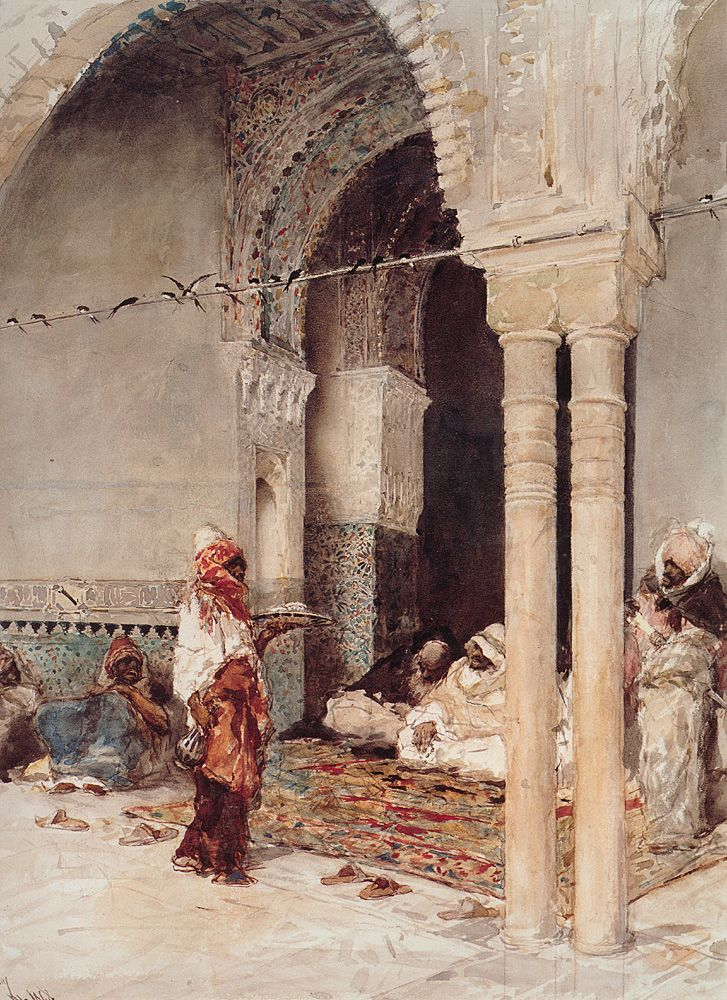 ** Marià Fortuny, El café de las golondrinas, 1868. Acuarela. Colección privada.