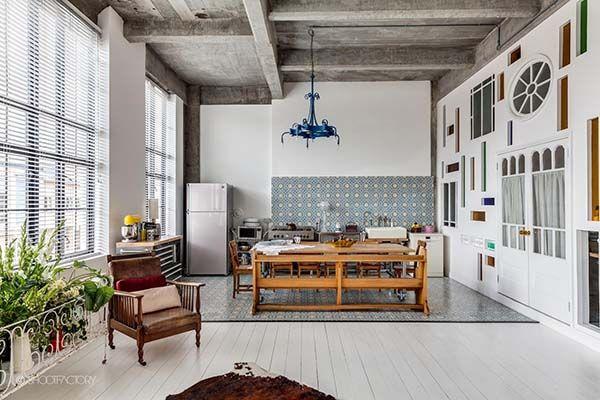 A London loft delights the senses with industrial-retro details