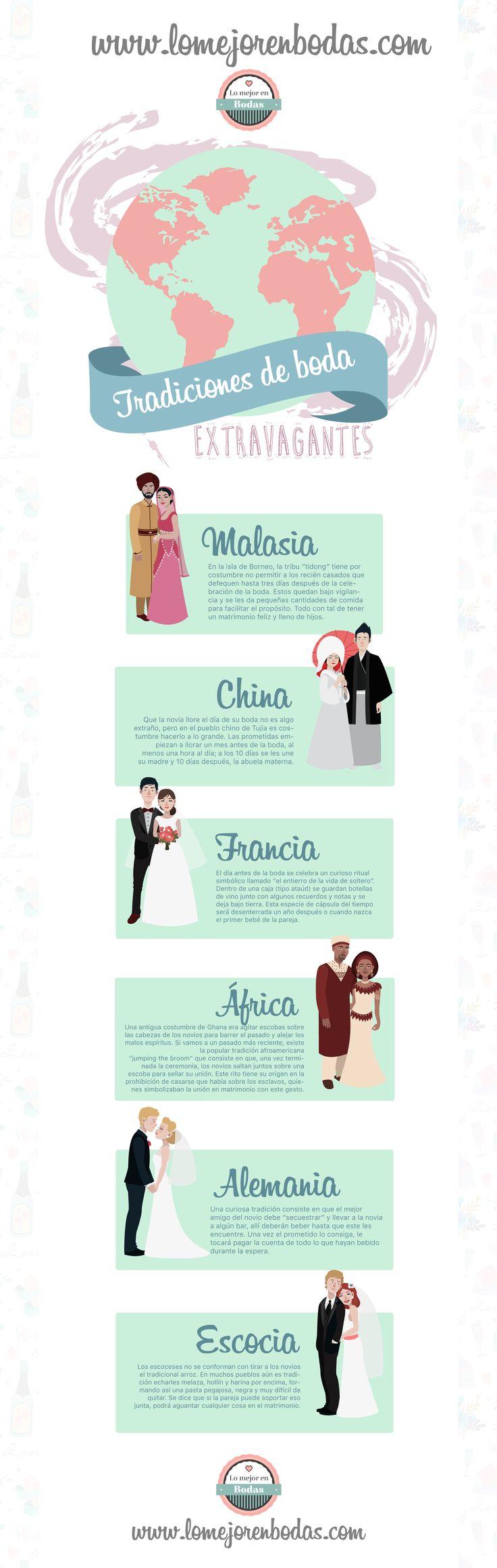 Curiosas tradiciones de boda