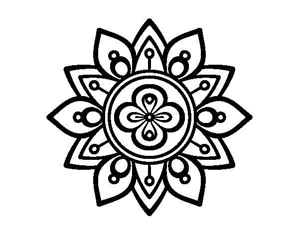 Dibujo De Mandala Flor De Loto Para Colorear Mandalas