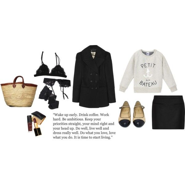 ... by tomorrowsparties on Polyvore featuring Burberry, STELLA McCARTNEY, Reger by Janet Reger, Petit Bateau and Tom Ford