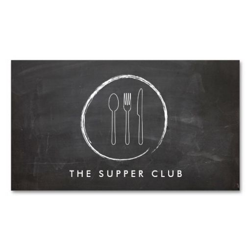 1108 best bakery business cards images on pinterest bakery fork spoon knife chalkboard logo for restaurant business card reheart Images