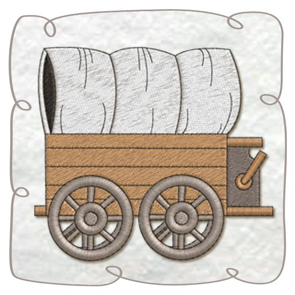 Wagon Machine Embroidery Design pattern-INSTANT DOWNLOAD