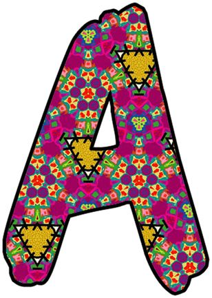 Printable Colored Individual Alphabet Letters Cool House Inteiror